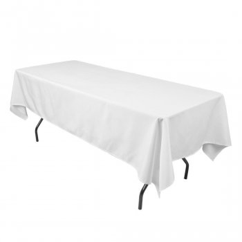 White Linen Tablecloth for 1.8m Table