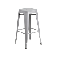 Tolix Bar Stool Silver 66cm (Hire)