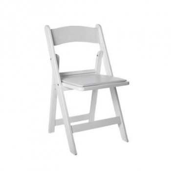 Premium White Folding Gladiator Chair (Hire)
