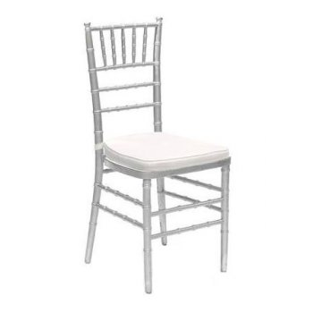 Premium Silver Tiffany Chair (Hire)