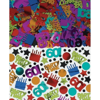 Amscan Confetti Value Pack 60th