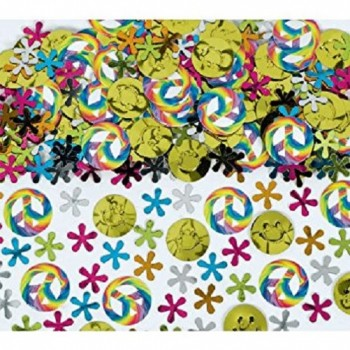 Amscan Confetti Value Pack Flower Power Hippy