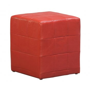 Red Cube Ottoman (Hire)