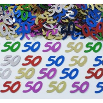 50th Multicoloured Scatterfetti Confetti 15g