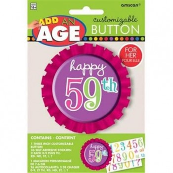 Amscan Add an Age Customisable Badge Pink
