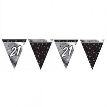 21st Bunting Black and Silver