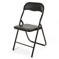 Standard Folding Padded Black Chair (Hire)